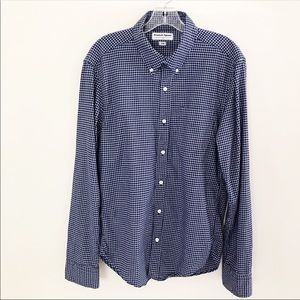Men's American Apparel Blue/White Plaid Shirt S